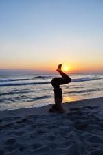 Hodestående på stranda, Lene